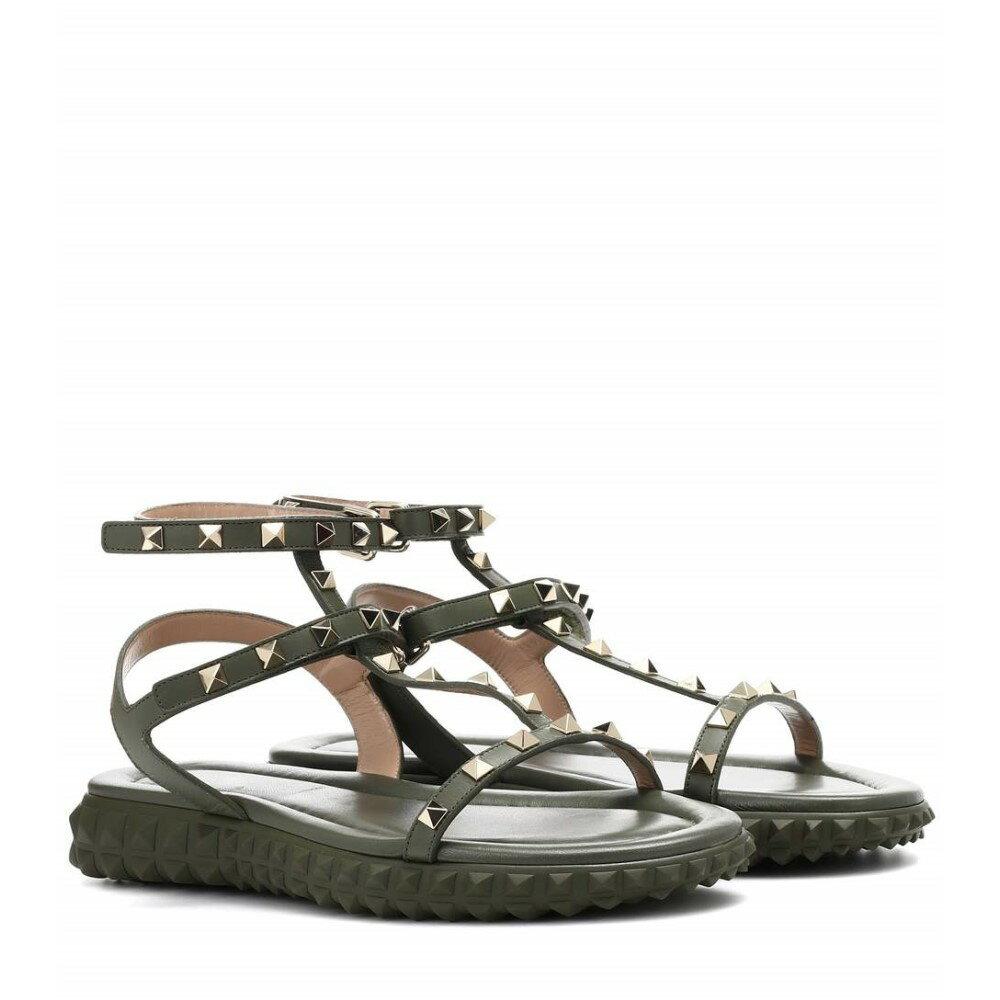 ヴァレンティノ レディース シューズ・靴 サンダル・ミュール【Valentino Garavani Free Rockstud leather sandals】Oasis