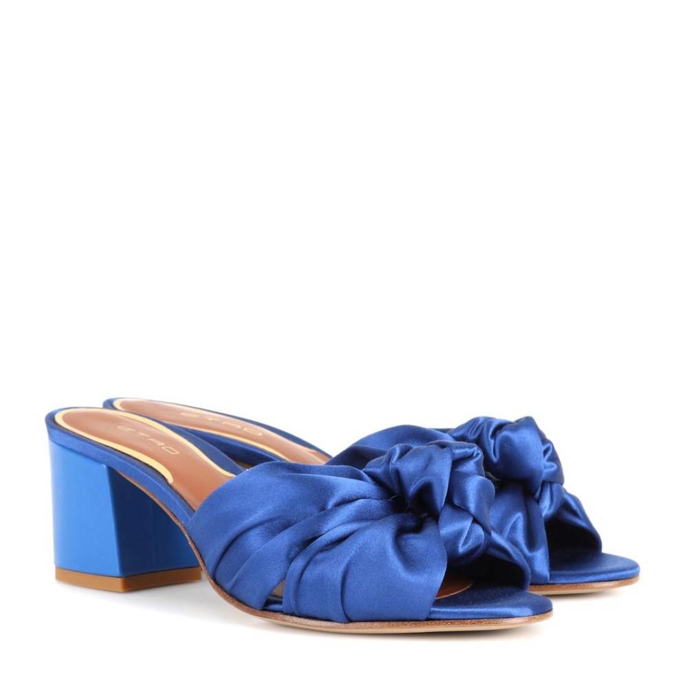 エトロ レディース シューズ・靴 サンダル・ミュール【Satin sandals】Blue