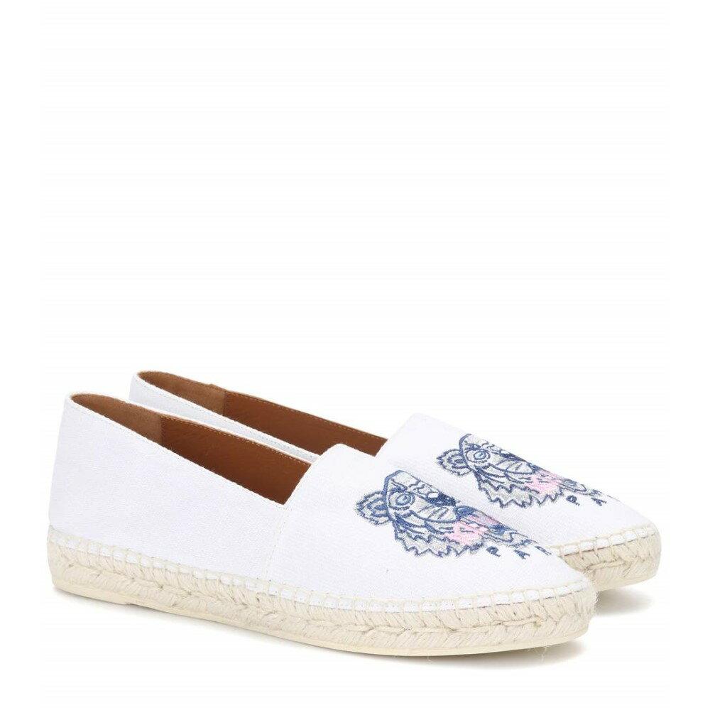 ケンゾー レディース シューズ・靴 エスパドリーユ【Embroidered espadrilles】White
