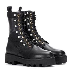 アルチュザラ レディース シューズ・靴 ブーツ【Embellished leather ankle boots】Black