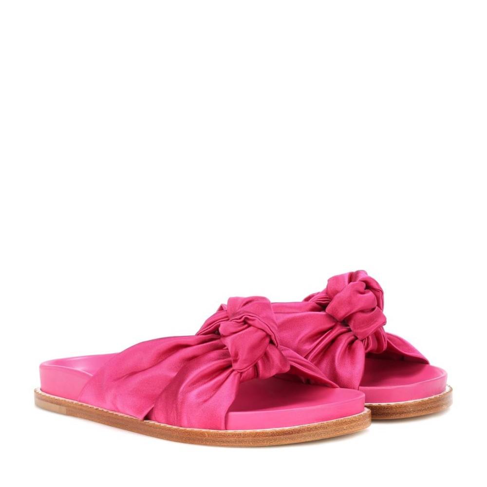 エトロ レディース シューズ・靴 サンダル・ミュール【Knotted satin slides】Pink