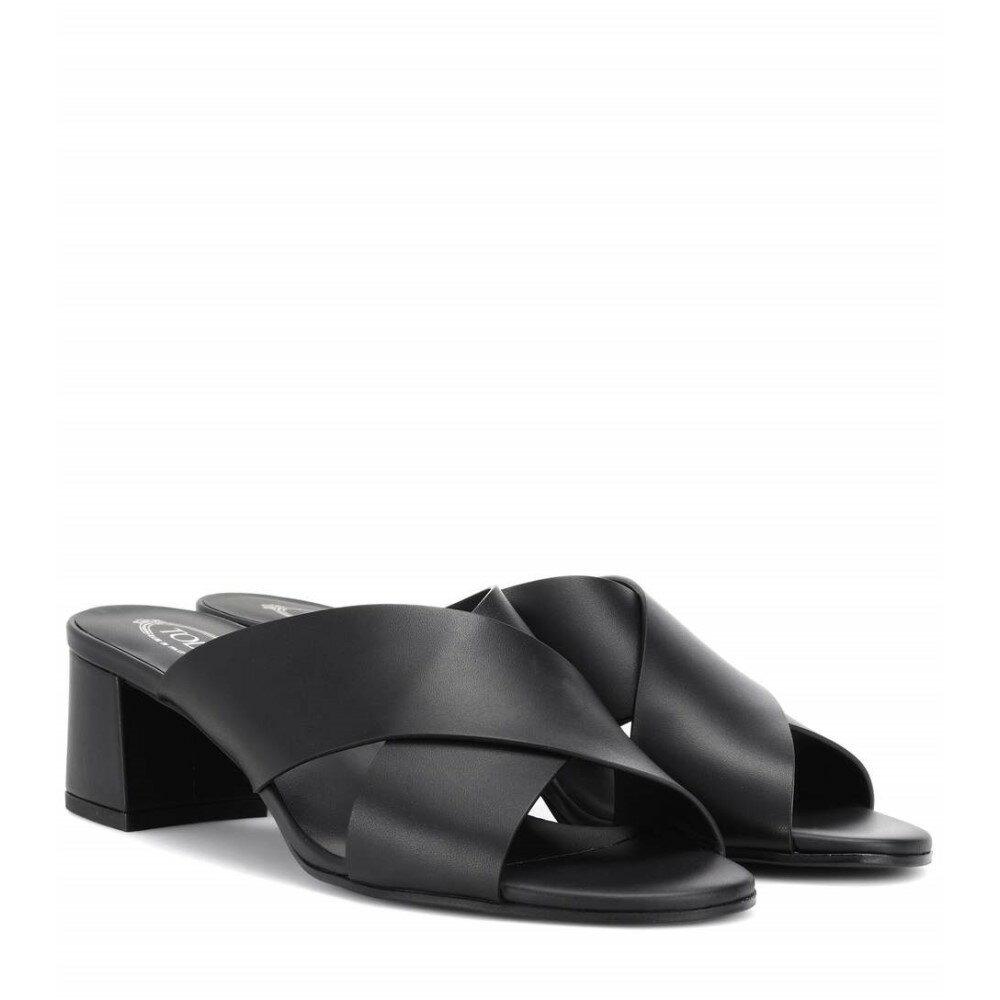トッズ レディース シューズ・靴 サンダル・ミュール【Leather sandals】Nero