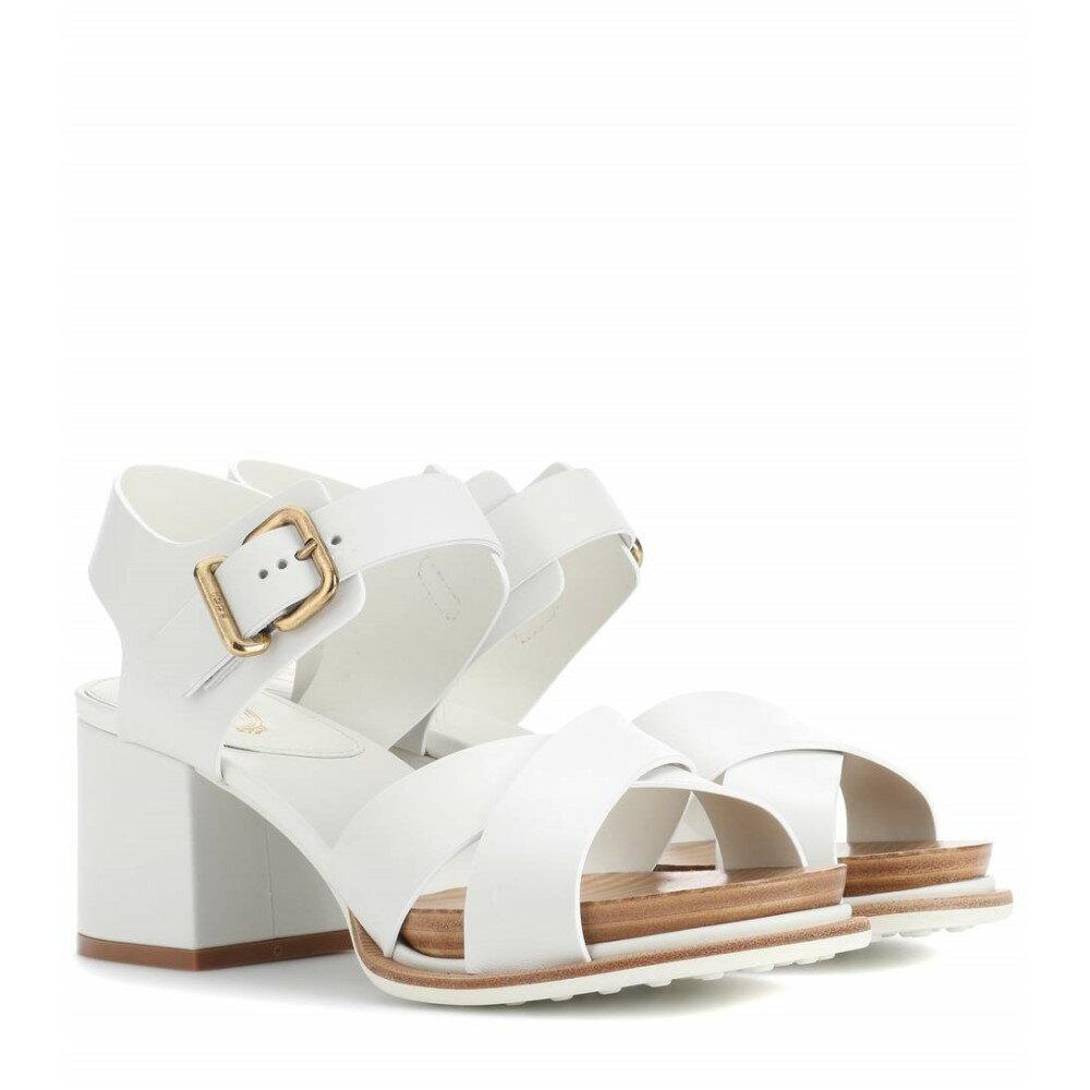 トッズ レディース シューズ・靴 サンダル・ミュール【Leather sandals】White