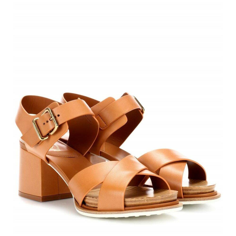 トッズ レディース シューズ・靴 サンダル・ミュール【Leather sandals】Cuoio Chiaro/Tan