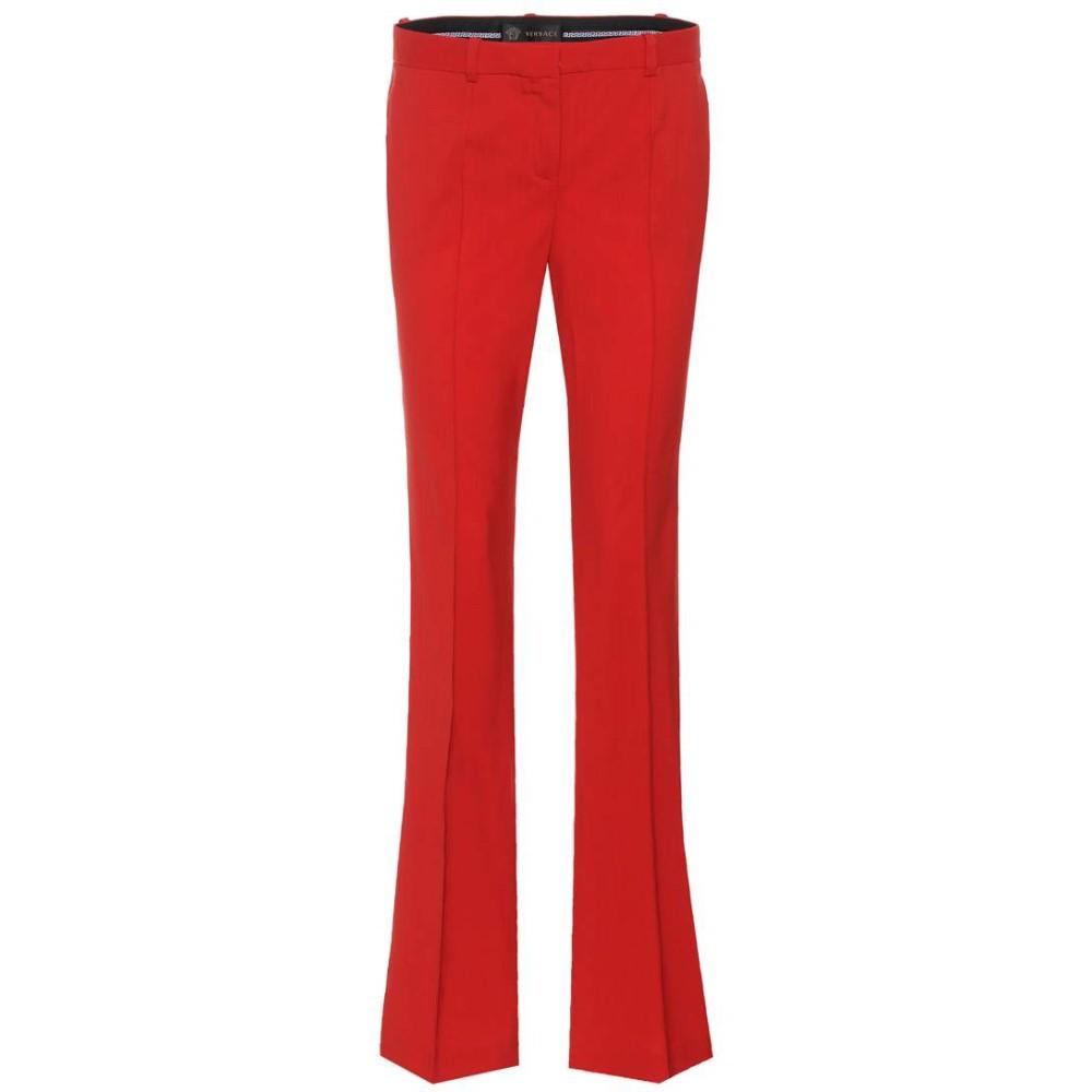 ヴェルサーチ レディース ボトムス・パンツ【Straight-leg trousers】Red