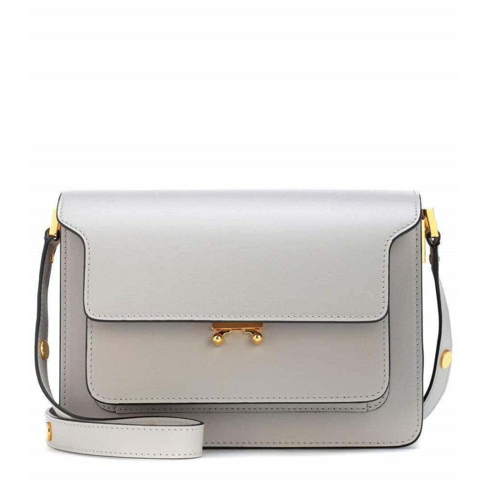 マルニ レディース バッグ ショルダーバッグ【Trunk leather shoulder bag】Pelican