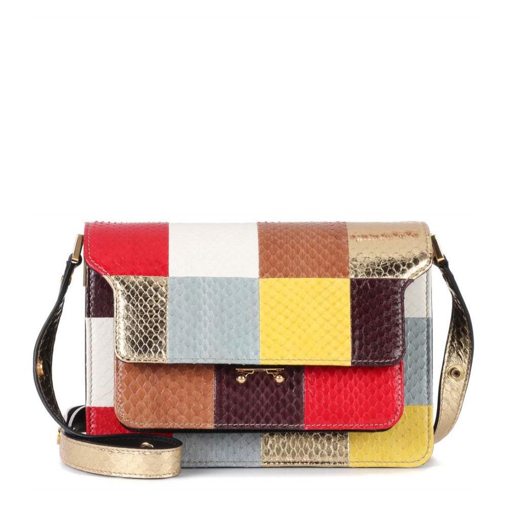 マルニ レディース バッグ ショルダーバッグ【Trunk snakeskin shoulder bag】Multicolor