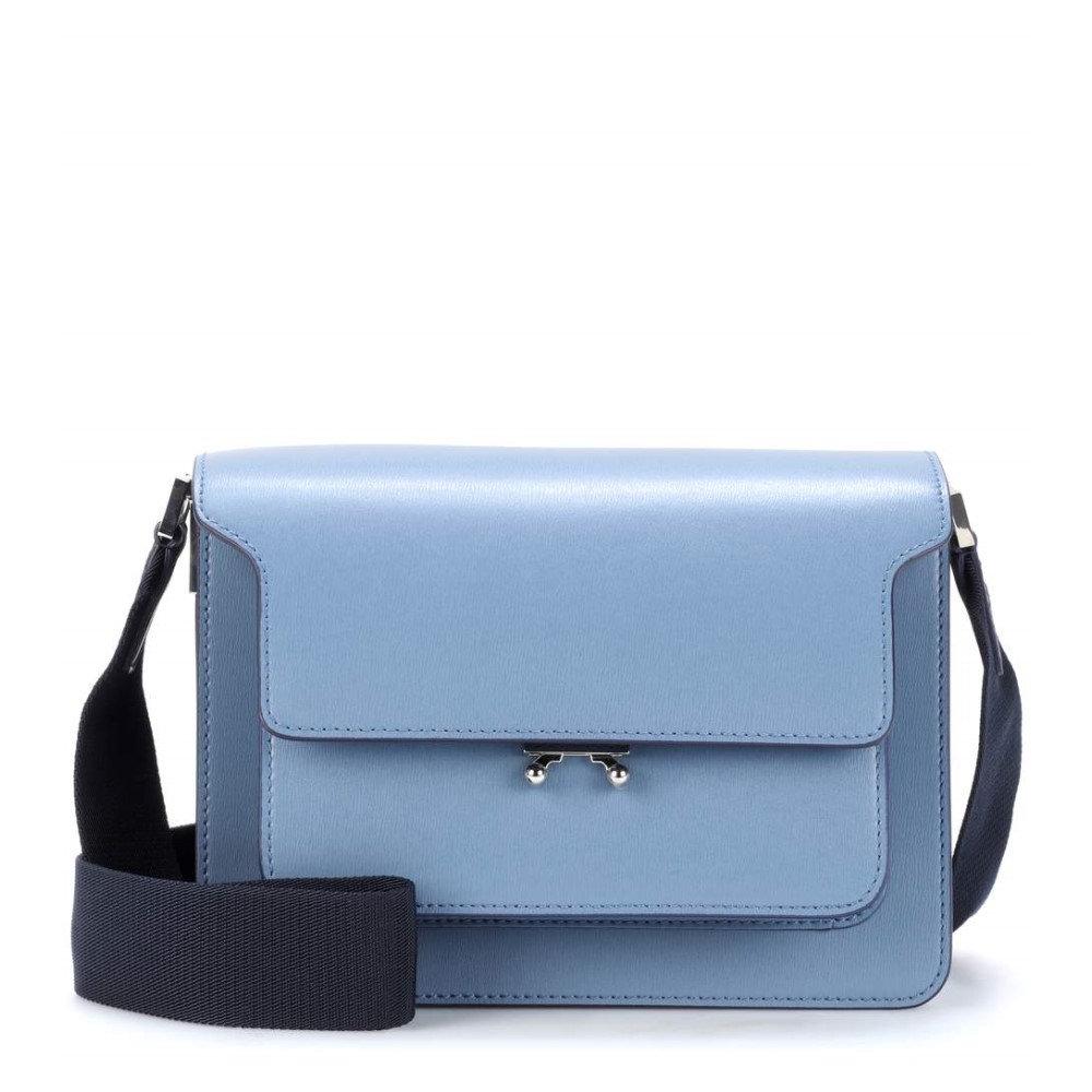 マルニ レディース バッグ ショルダーバッグ【Trunk leather shoulder bag】Opal/Night Blue