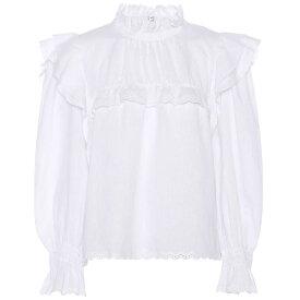 イザベル マラン レディース トップス ブラウス・シャツ【Ted ruffled linen blouse】White