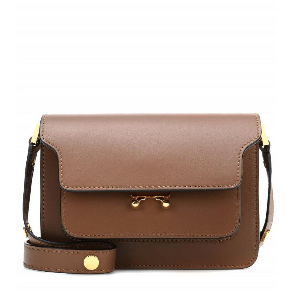 マルニ レディース バッグ ショルダーバッグ【Trunk Mini leather shoulder bag】