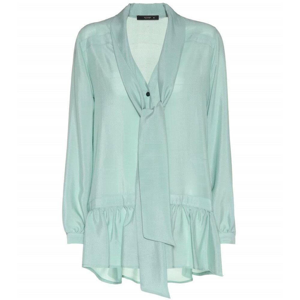 エトロ レディース トップス ブラウス・シャツ【Silk-crepe blouse】Green
