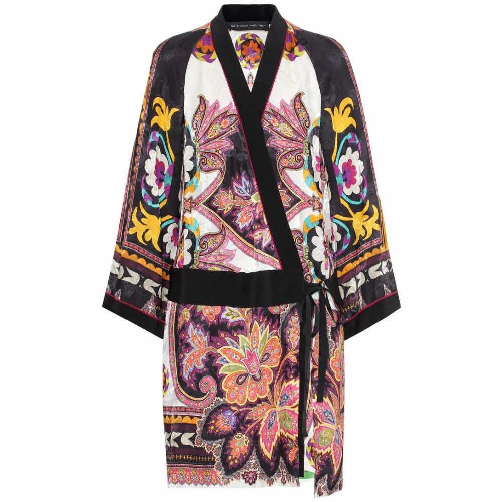 エトロ レディース ワンピース・ドレス ワンピース【Silk-blend wrap dress】Multicolor