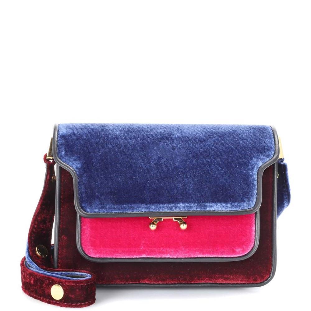 マルニ レディース バッグ ショルダーバッグ【Trunk Mini velvet shoulder bag】Multicolor