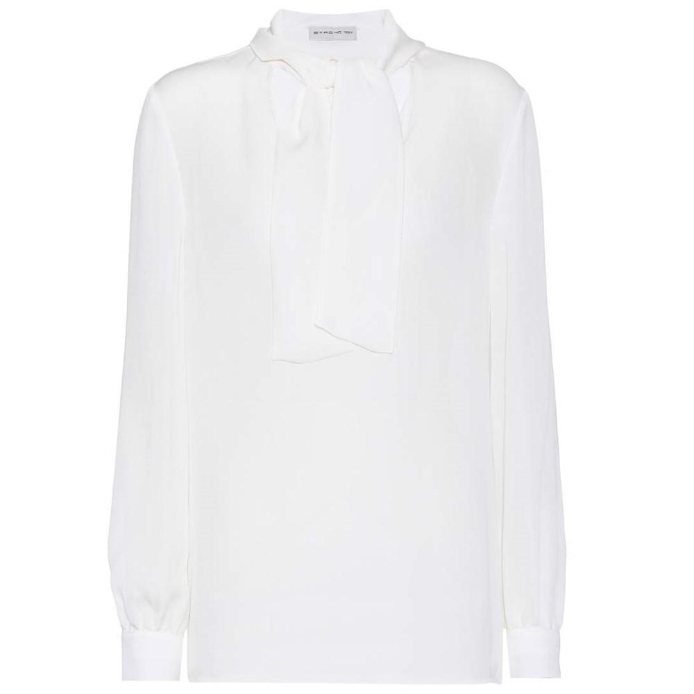 エトロ レディース トップス ブラウス・シャツ【Silk blouse】Ivory
