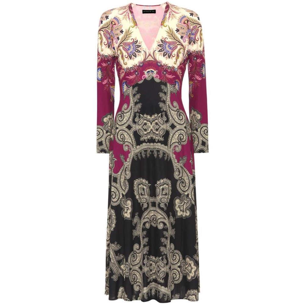 エトロ レディース ワンピース・ドレス ワンピース【Printed dress】purple