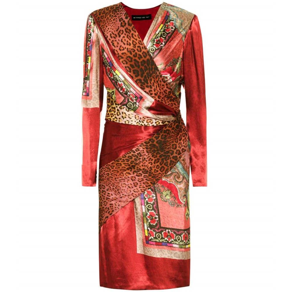 エトロ レディース ワンピース・ドレス ワンピース【Printed silk-blend dress】
