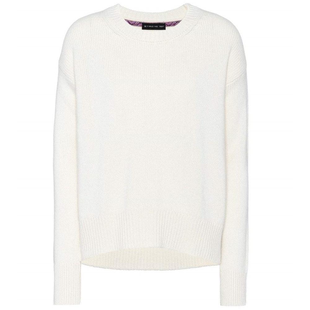 エトロ レディース トップス ニット・セーター【Wool and cashmere-blend sweater】Ivory