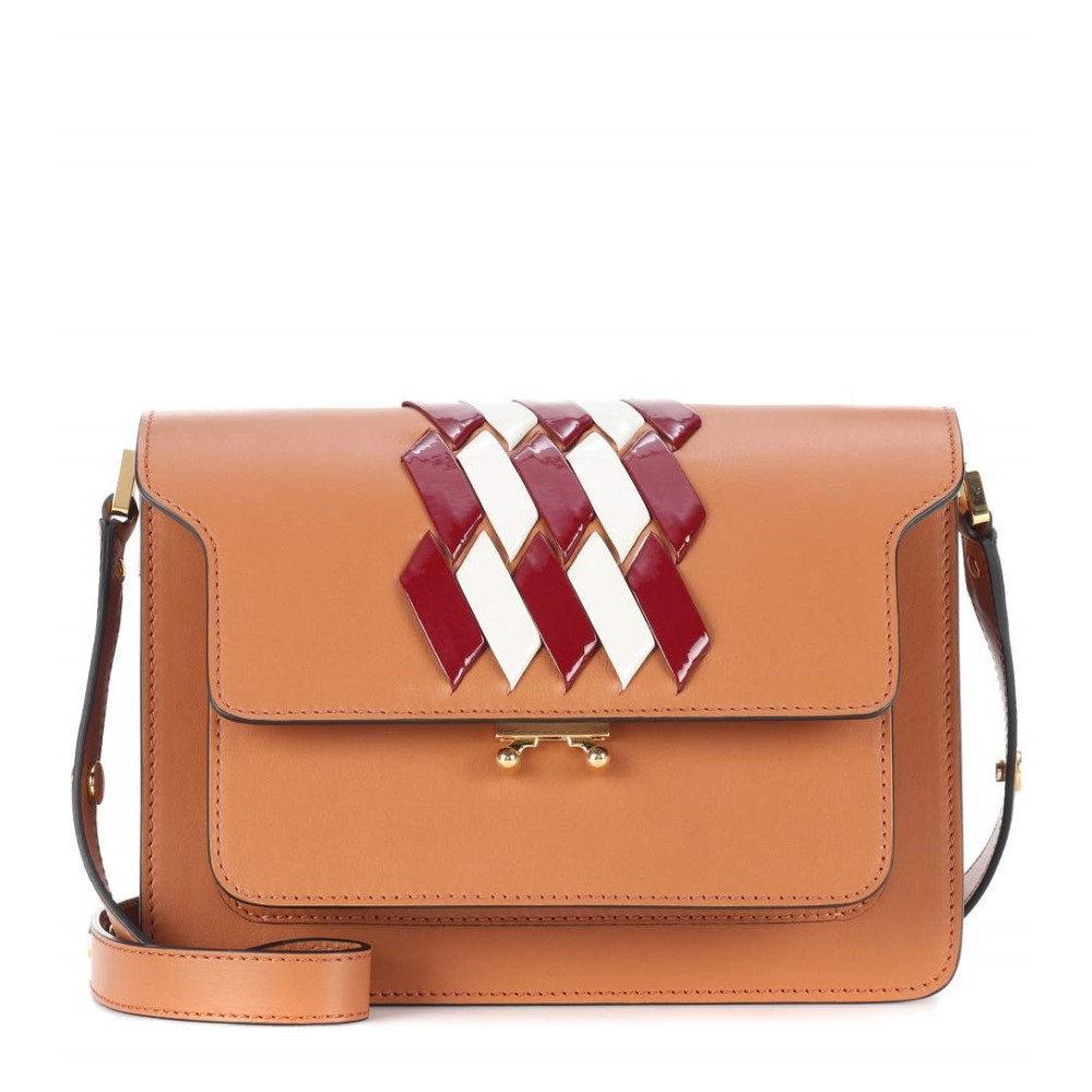 マルニ レディース バッグ ショルダーバッグ【Trunk leather shoulder bag】