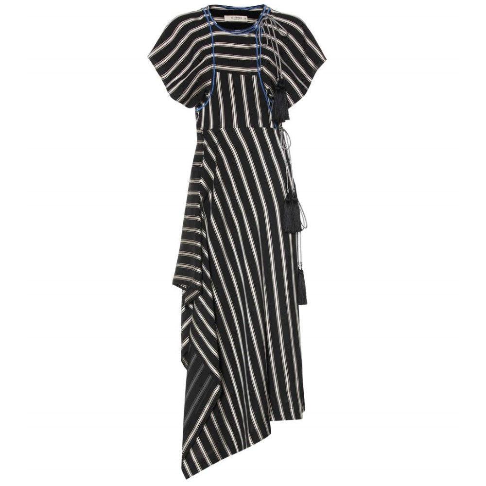 エトロ レディース ワンピース・ドレス ワンピース【Striped asymmetric dress】