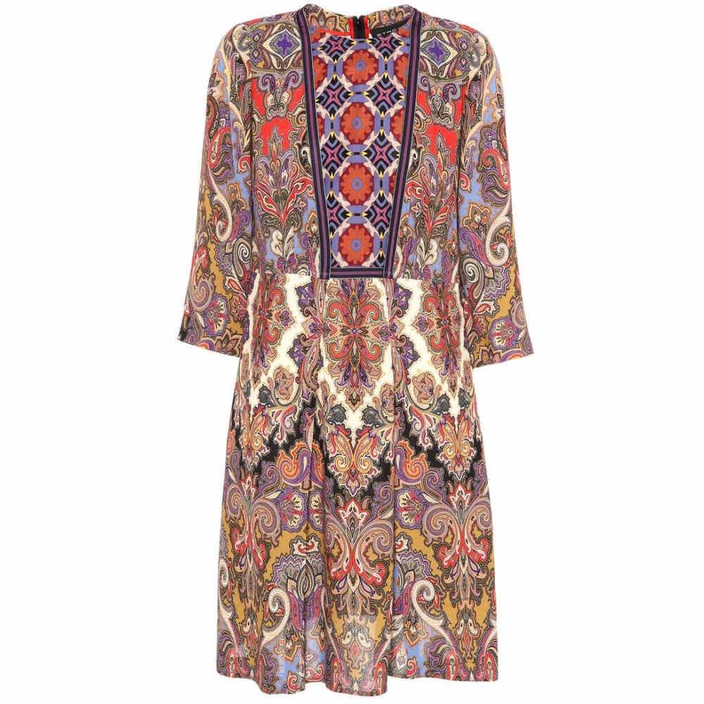 エトロ レディース ワンピース・ドレス ワンピース【Paisley and floral-printed dress】