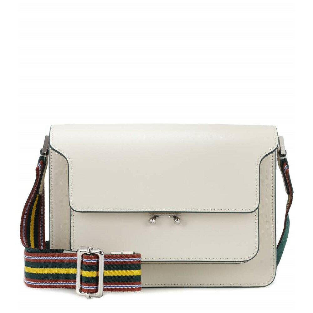 マルニ レディース バッグ ショルダーバッグ【Trunk leather shoulder bag】Antique White/Lemmon