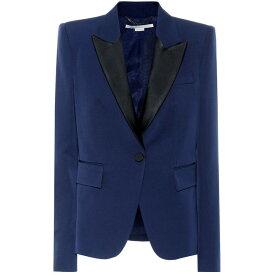 ステラ マッカートニー レディース アウター スーツ・ジャケット【Wool tuxedo blazer】Sapphire Blue