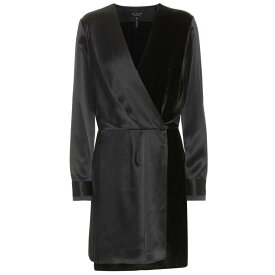 36351572ce95d ラグ ボーン レディース ワンピース・ドレス ワンピース Victor satin and velvet dress Black