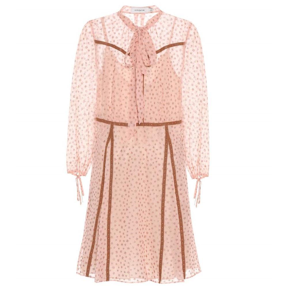 コーチ レディース ワンピース・ドレス ワンピース【Printed dress】Pink