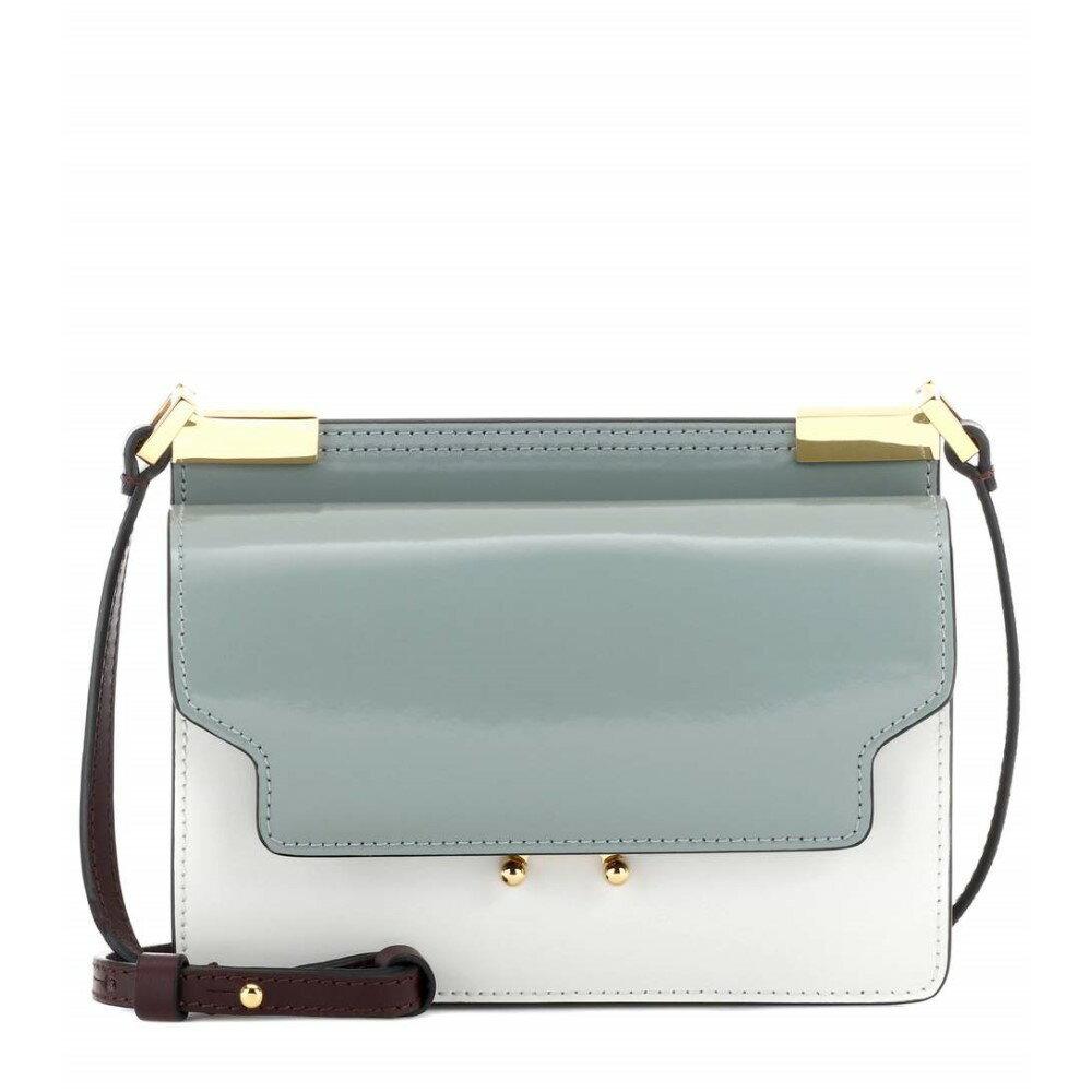 マルニ レディース バッグ ショルダーバッグ【Trunk Micro leather shoulder bag】Mercury/Pearl/Eggplant/Brown