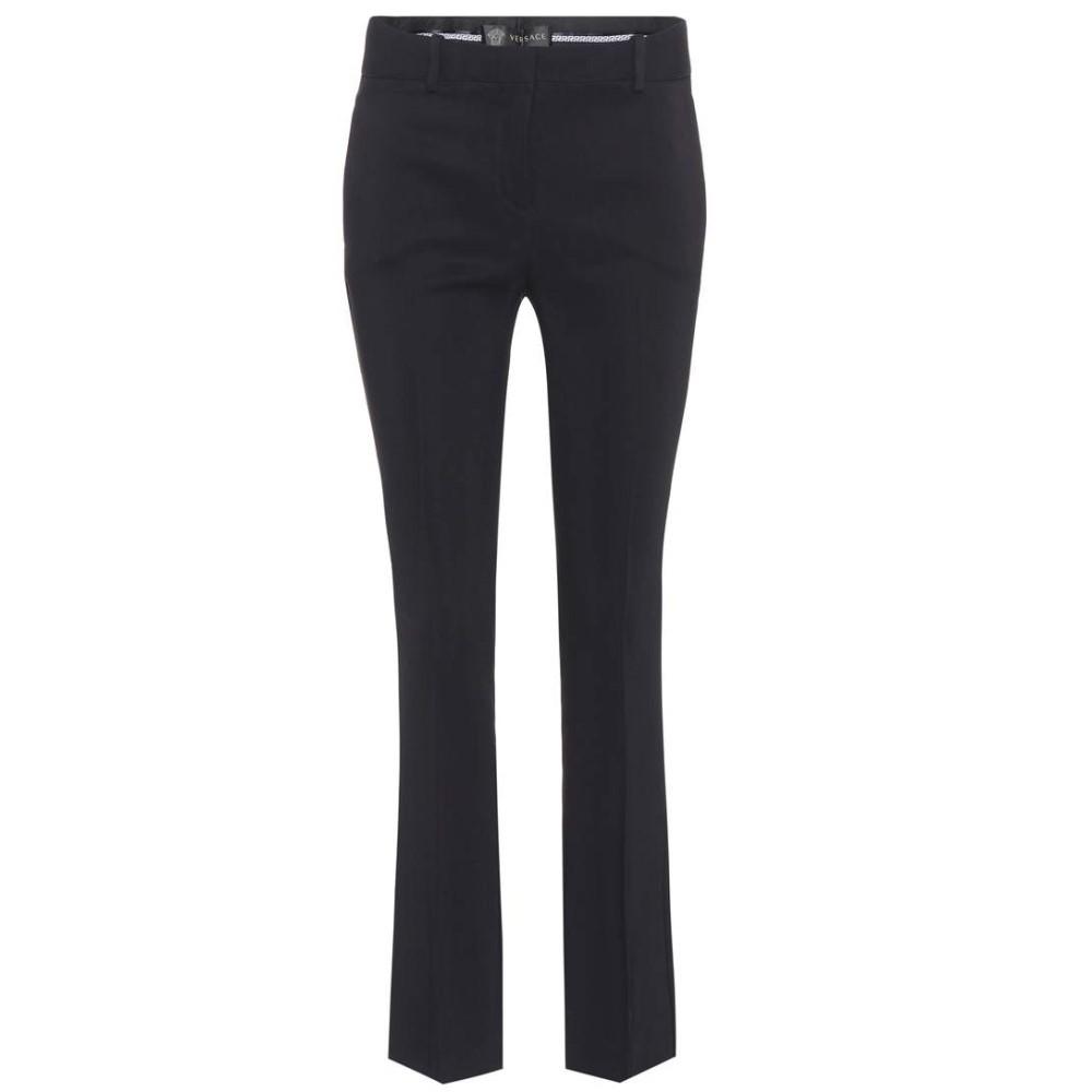 ヴェルサーチ レディース ボトムス・パンツ クロップド【Mid-rise cropped trousers】Black