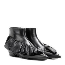 J.W.アンダーソン レディース シューズ・靴 ブーツ【Ruffle leather ankle boots】Black
