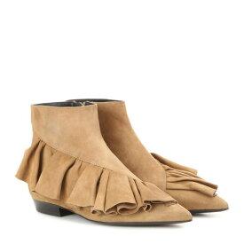 J.W.アンダーソン レディース シューズ・靴 ブーツ【Ruffle suede ankle boots】Desert