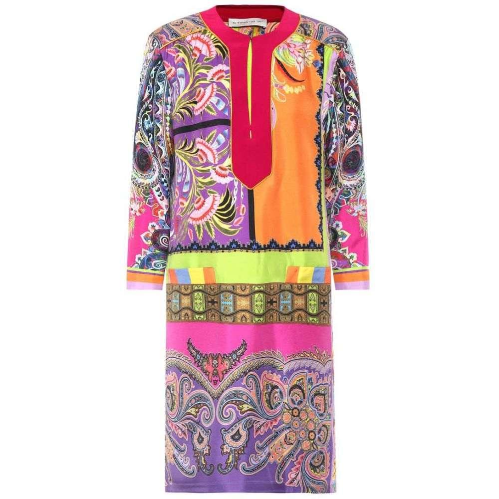 エトロ レディース ワンピース・ドレス ワンピース【Printed silk satin dress】Multicolor