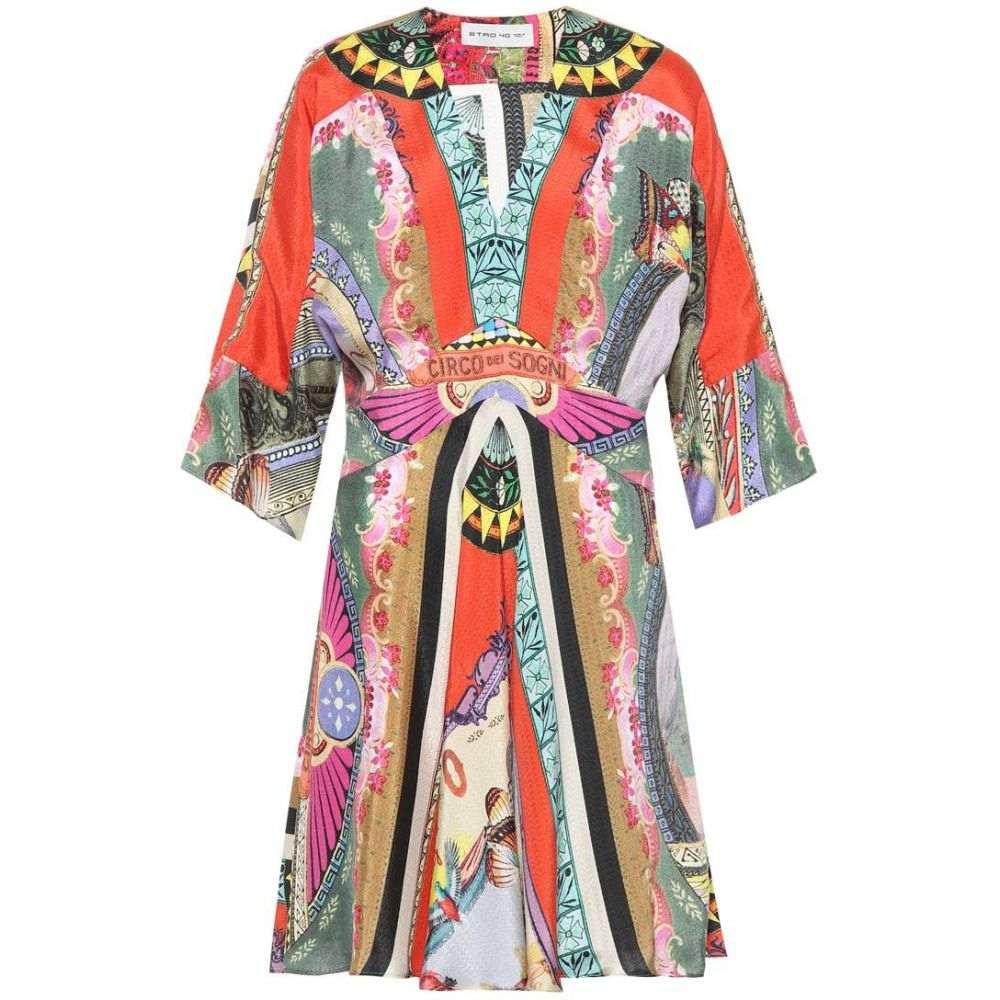 エトロ レディース ワンピース・ドレス ワンピース【Printed silk-blend minidress】Multicolor