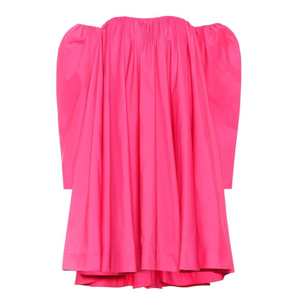 カルバンクライン レディース ワンピース・ドレス ワンピース【Off-the-shoulder swing dress】Begonia