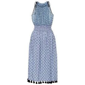 アルチュザラ レディース ワンピース・ドレス ワンピース【Sleeveless printed cotton dress】Periwinkle