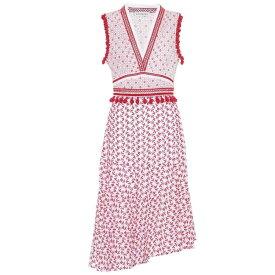 アルチュザラ レディース ワンピース・ドレス ワンピース【Eiffel cotton midi dress】Scarlet