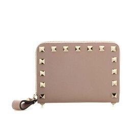 ヴァレンティノ レディース 財布【Valentino Garavani Rockstud leather wallet】Poudre