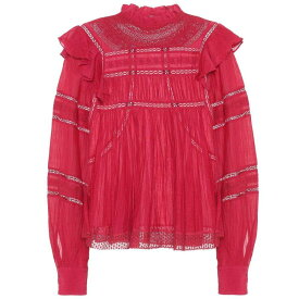 イザベル マラン レディース トップス ブラウス・シャツ【Viviana cotton-blend blouse】Raspberry
