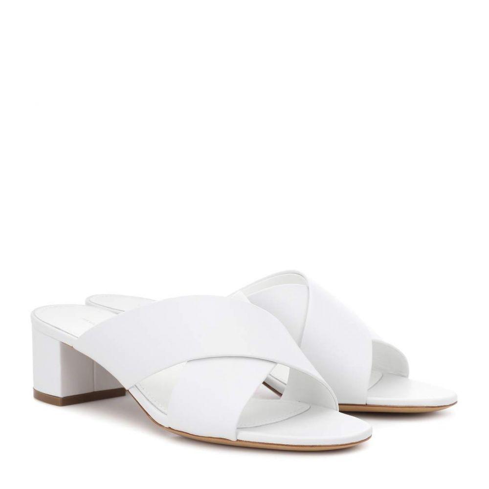マンサーガブリエル レディース シューズ・靴 サンダル・ミュール【40mm Crossover leather sandals】White
