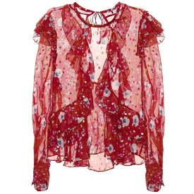 イザベル マラン レディース トップス ブラウス・シャツ【Ruffled floral-printed blouse】Raspberry