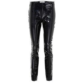ヴァレンティノ レディース ボトムス・パンツ スキニー・スリム【Vinyl slim-fit pants】Black