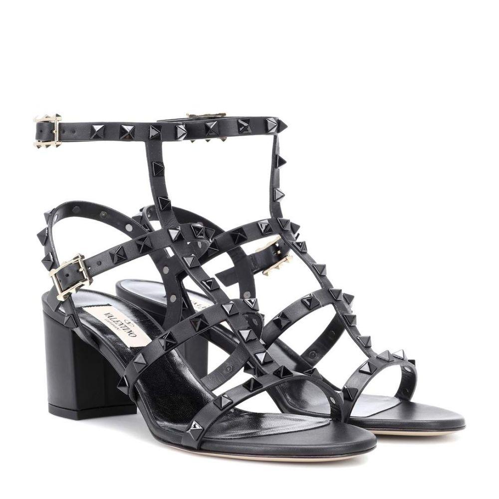 ヴァレンティノ レディース シューズ・靴 サンダル・ミュール【Valentino Garavani Rockstud leather sandals】Nero