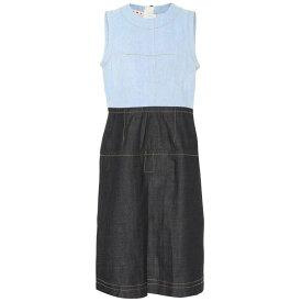 マルニ レディース ワンピース・ドレス ワンピース【Two-tone denim dress】Blue/Black/Mineral Ice