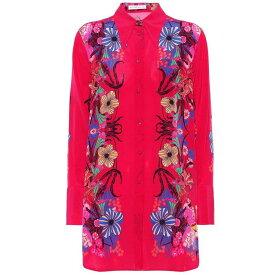 エトロ レディース トップス チュニック【Floral silk tunic blouse】Fuschia