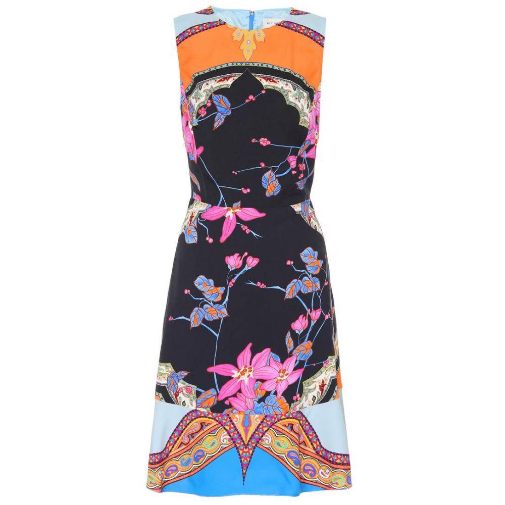 エトロ レディース ワンピース・ドレス ワンピース【Floral-printed dress】Blue Multicolor