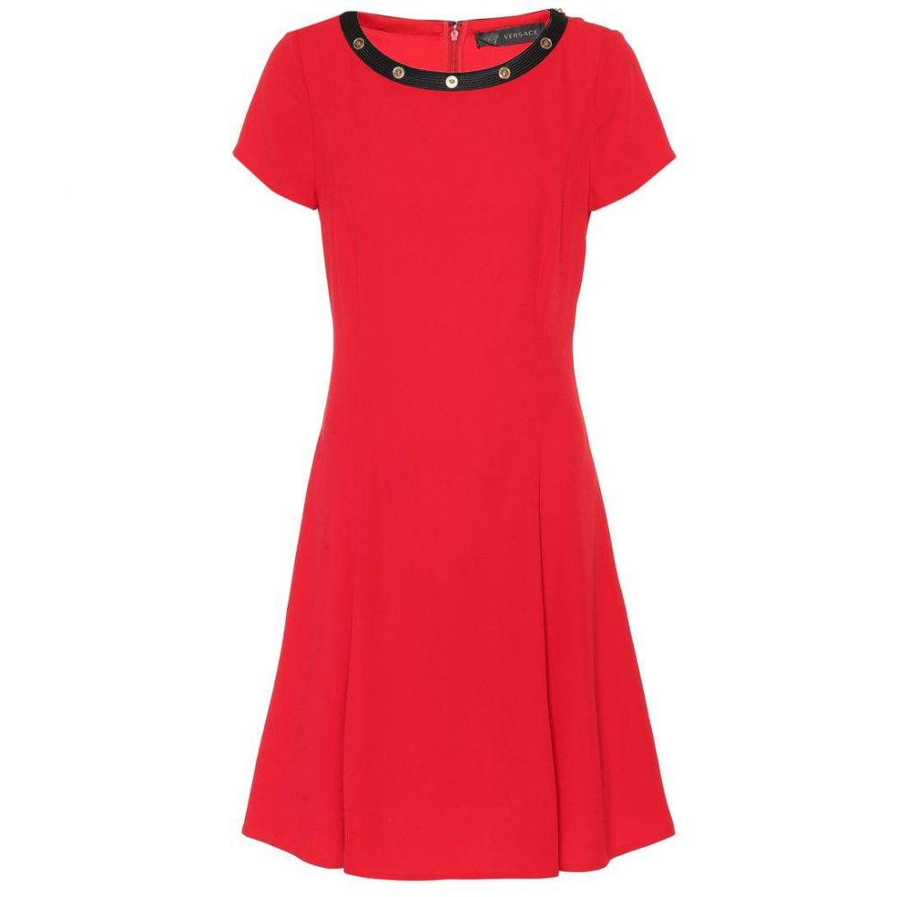 ヴェルサーチ レディース ワンピース・ドレス ワンピース【Crepe minidress】Red Black