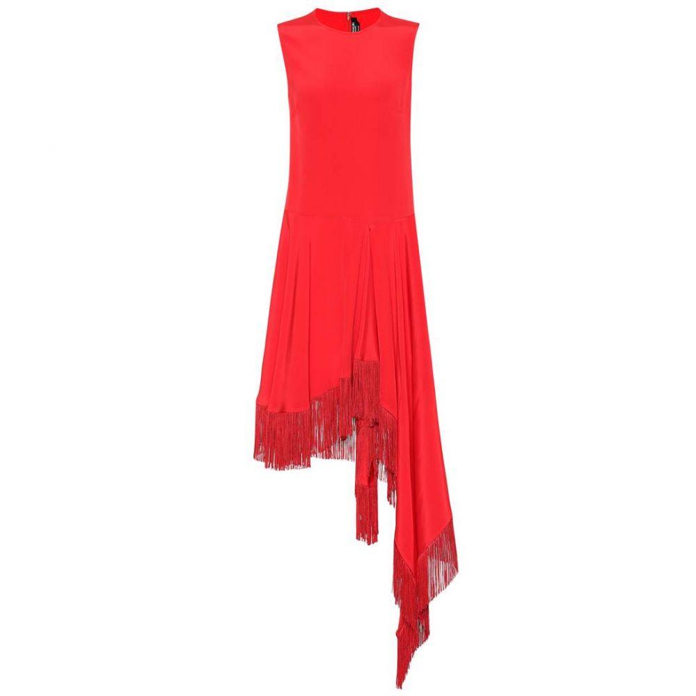 カルバンクライン レディース ワンピース・ドレス ワンピース【Asymmetric silk satin dress】