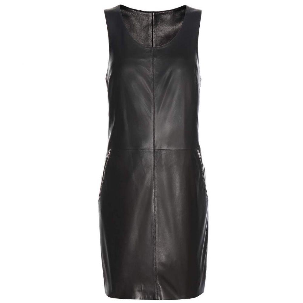カルバンクライン レディース ワンピース・ドレス ワンピース【Racer Zip leather minidress】CK Black