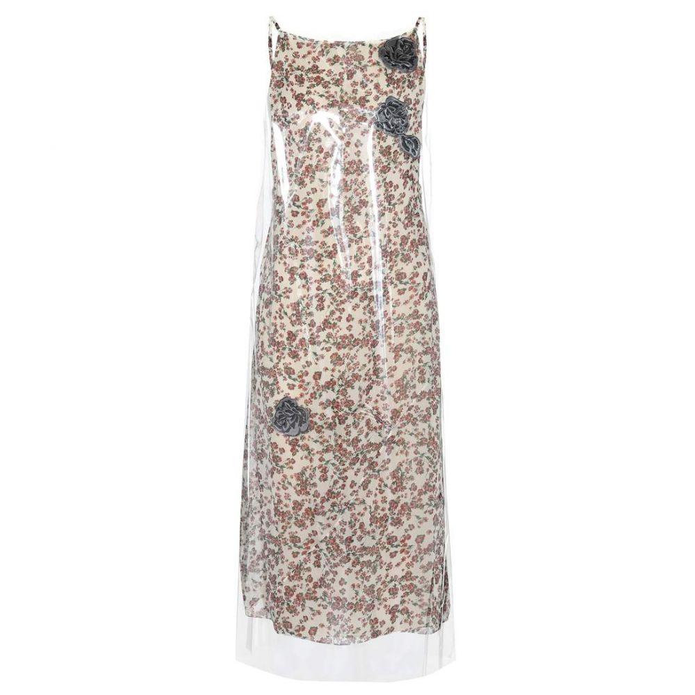カルバンクライン レディース ワンピース・ドレス ワンピース【Layered PVC and cupro slip dress】Transparent/Flower